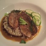 Amazing Grouper over Couscous with Pumpkin Curry Sauce