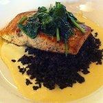 Salmon with forbidden black rice, J. Liu's, Dublin, OH
