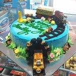 Thomas themed Cold Rock ice cream cake