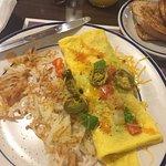 Veggie lovers omelet, basically empty inside.