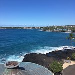 Views from terrace at Royal Kona Resort