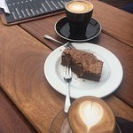Delicious Granada Cappuccino, Chocolate Brownie and Fabulous 3 Sisters Cortado