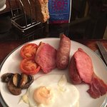 delicious full English breakfast, plus a GREAT espresso & all the usual cereals, fruits, juices