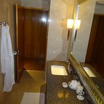 Double bathroom with bath and shower