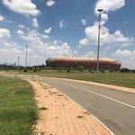 No meio do passeio para o Soweto