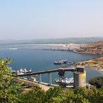 Port Ratnagiri & Arabian sea from the fortress cliff of Ratnagiri.