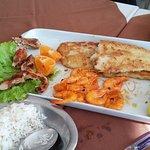 peixe grelha do com camarão