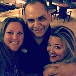 My best friend and I with Armando, the greatest bartender ever!