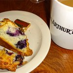 Blueberry scone and coffee - bliss.