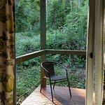 Balcón de la habitación con vista a la selva.