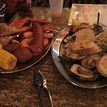 Grilled Oysters and Back Bay platter