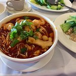 A friend turned me on to the Spicy Seafood Soup. It's awesome. Nice kick!