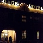 The adjacent historic Gage Hotel.
