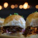 Pulled Coca Cola Braised Beef Sliders available for Brunch through till 4pm