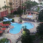 Water slide pool, small kiddie pool and Mini Golf by our tower.