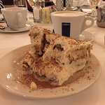 Tiramisu and LaVazza coffee at Matteo's, Noblesville, IN