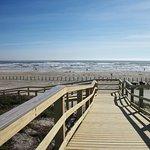 Our private beach boardwalk!