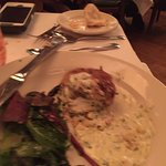 Sorry it's out of focus - Crab Cake! Best ever!