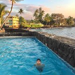 A typical sunset dip in the Kona Tiki pool