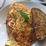 Egg dishes including omelet