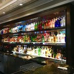 The bar is beautiful & looks like one person's whole job is making sure nothing is out of place!