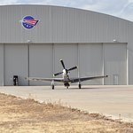 P-51D Mustang FRANCES DELL departing the museum on Sat. Jan. 14 2017