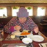That is me eating my turkey dinner.
