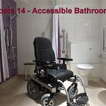 Room 14 - accessible bathroom