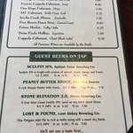 San Marcos Brewery Beer and Wine list