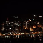 One of the many vantage points of Pittsburgh at night!