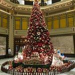 Christmas Tree in Hotel Lobby