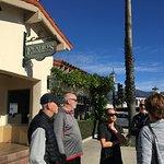 Family outside restaurant after breakfast
