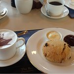 tea or coffee and scones with clotted cream yummo.