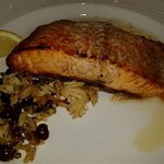 Salmon and toasted orzo