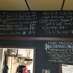 Updated menu.  Everything is great, but the Julia pig is crazy good!