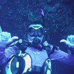 PADI Instructor Van Hovey at Blue Hole