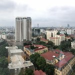 A view from room on the 11th floor of the Melia, on a gray and rainy January day in Hanoi!!