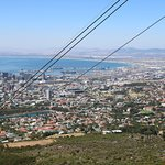 Partial view of Cape Town Waterfront from the Cableway