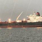 Buque carguero en el puerto de Veracruz.