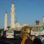 Lokasi parkir di masjid Quba