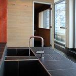 Unser Haus verfügt über einen Wellnessbereich mit Finnischer Sauna und Dampfbad