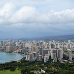 Waikiki sky line .The view from the top of Diamond head State Monument.Well worth the hike