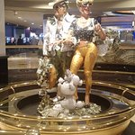 Statue In Middle of Casino Floor
