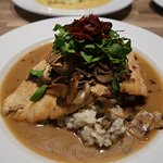 GREAT Chicken Marsala on Parmesan Risotto