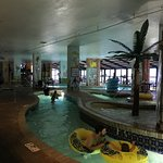 Kids loved indoor pool - only safety concerns - no lifeguards, and large concrete pillars obscur