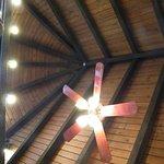high ceiling.