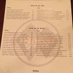 The wine and beer list
