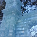 The ice sculpture at the entrance.