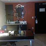 Sink, refrigerator, coffee maker, closet