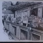 Drawing of original bar from Prohibition Days